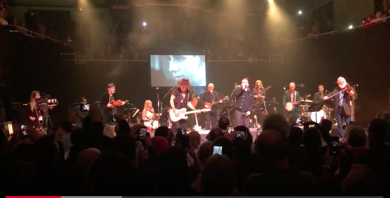 WATCH THIS! Nick Cave singing with Shane Macgowan at the Pogues legend's 60th party gig