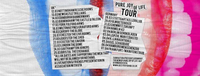 iDestroy tour dates