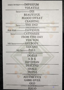 Machine Head Setlist