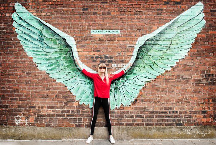 Caroline Coon - photo on Jamaica Street, Liverpool