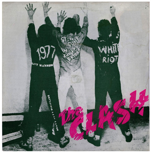 Caroline Coon iconic photo of The Clash 1977
