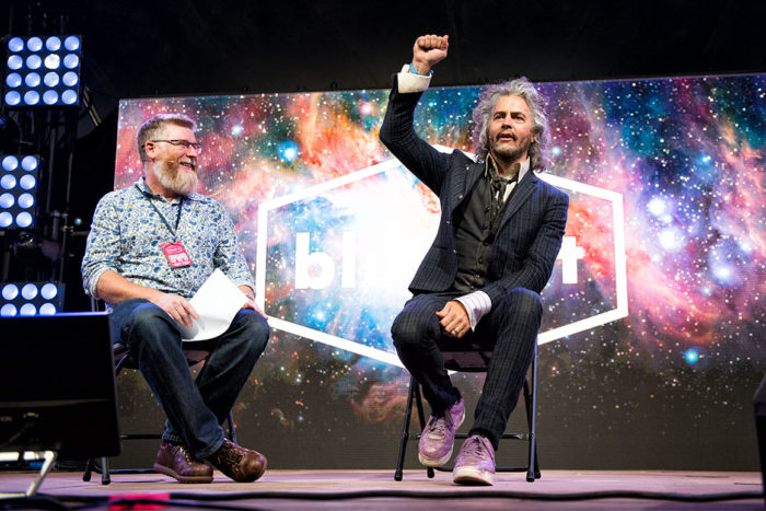 Prof Tim O'Brien + Wayne Coyne © Melanie Smith
