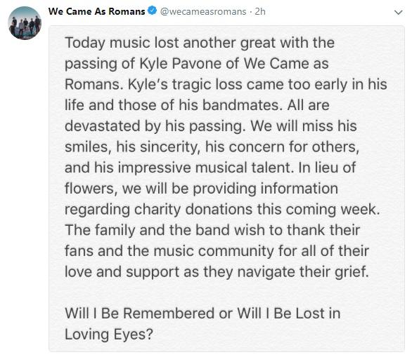 Kyle Pavone RIP