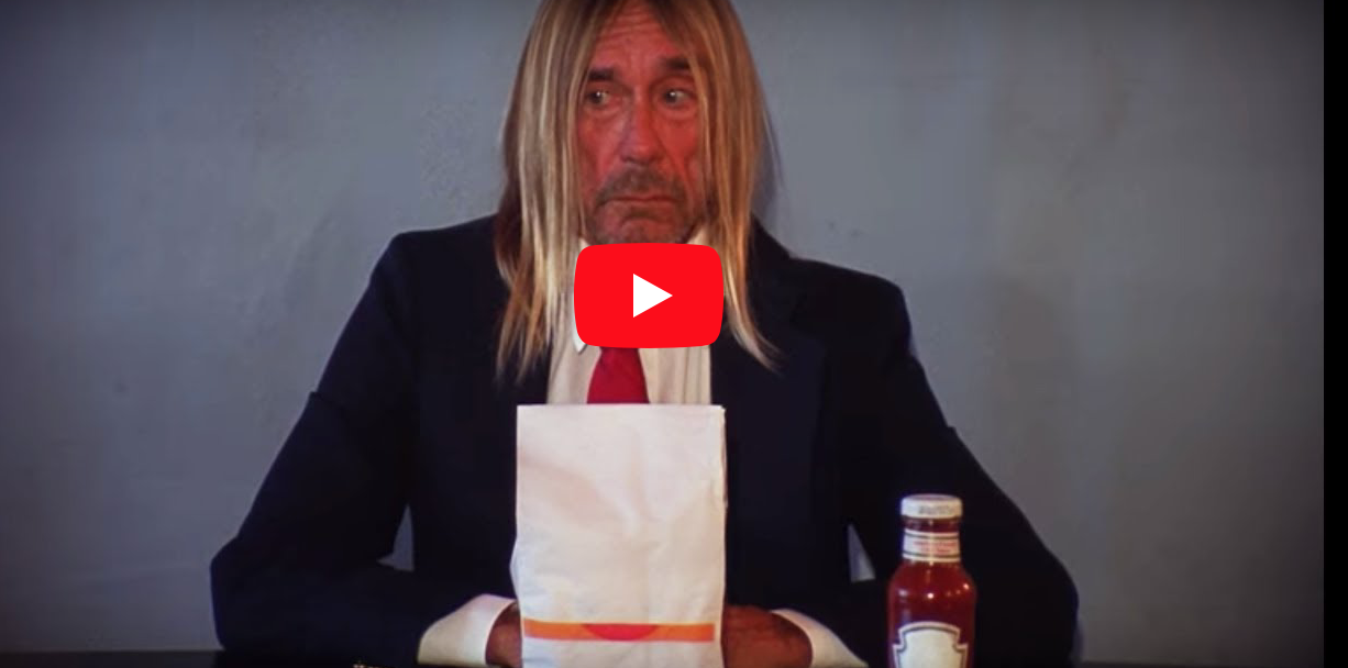 """WATCH! Iggy Pop pastiche """"Andy Warhol Eating a Hamburger' in new Death Valley Girls video"""