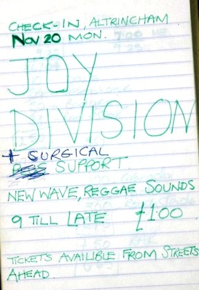 Joy Division Notebook poster Edit