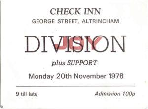 Joy Division Ticket
