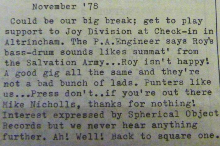 Joy Division - altrincham memory - Louder Than War