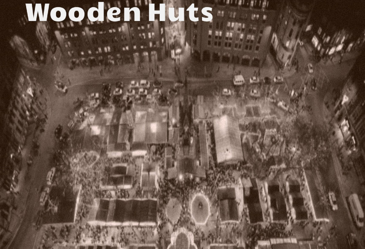 A partly political broadcast… 'Wooden Huts' German Shepherds The Parasite on Xmas City Centre markets