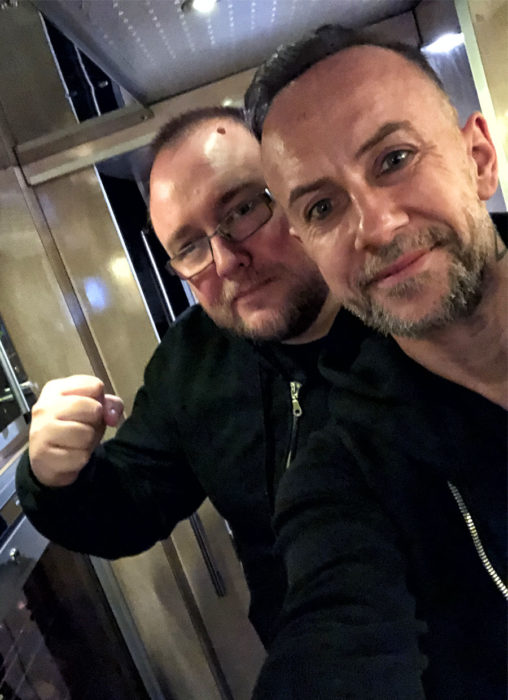Behemoth on tour bus with Dom Walsh
