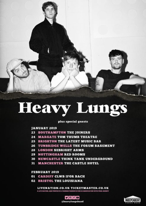 Heavy Lungs Tour Poster