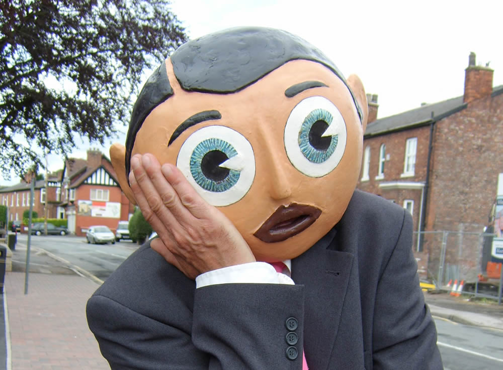 Being Frank The Chris Sievey Story still 11 - Frank Sidebottom - photo credit Phil Fletcher