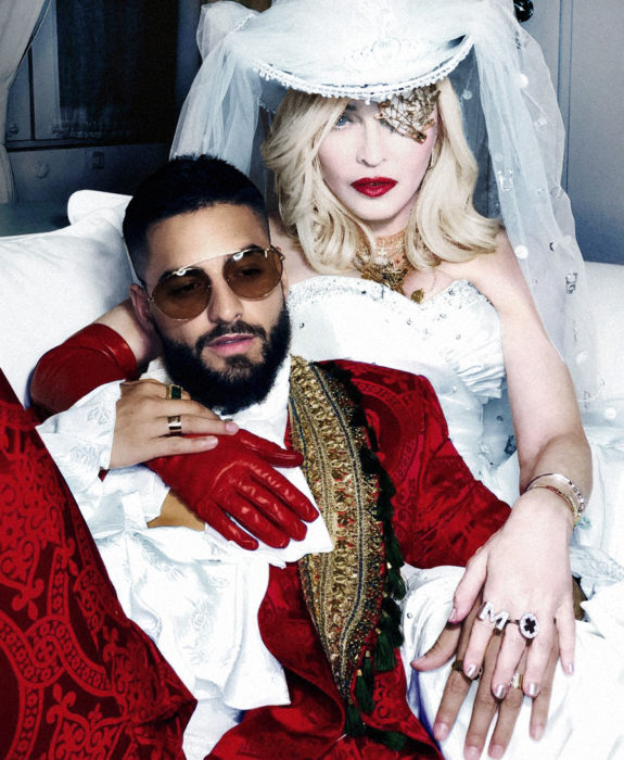 MADONNA AND MALUMA PRESS SHOT