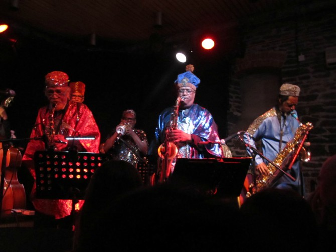 Sun Ra Arkestra at Fiddlers, Bristol. Marshall Allen on the left...