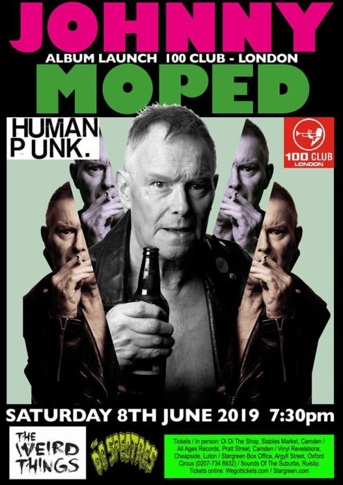 Johnny Moped album launch