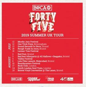 BOCA 45 TOUR DATES IMAGE LOUDER THAN WAR