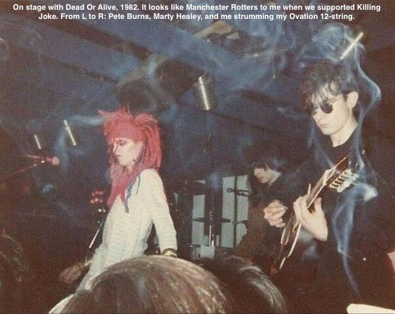 Onstage with Dead Or Alive, 1982