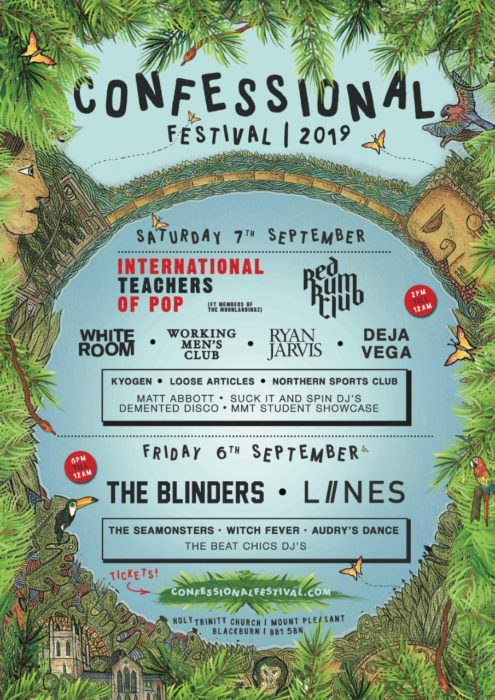 Line up poster - Confessional Festival 2019