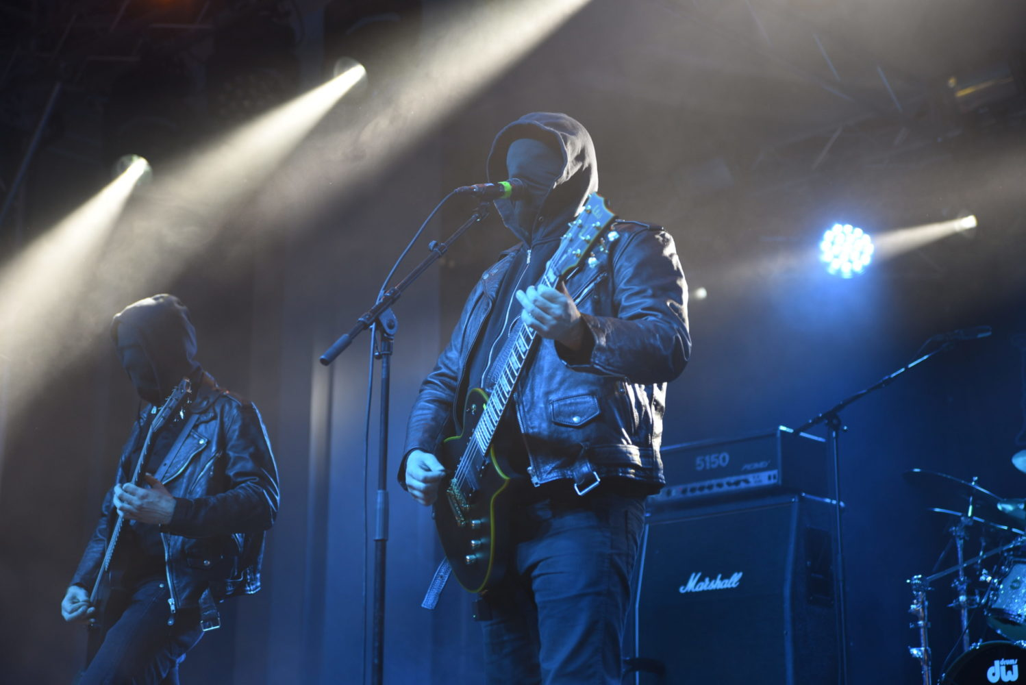 Mgla on stage at the Damnation Festival
