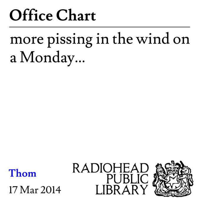 office chart radiohead