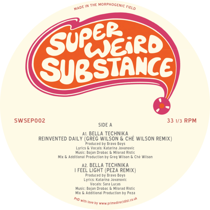 Super Weird Substance join forces with Bella Technika for tripped out psychedisco grooves : sounds great