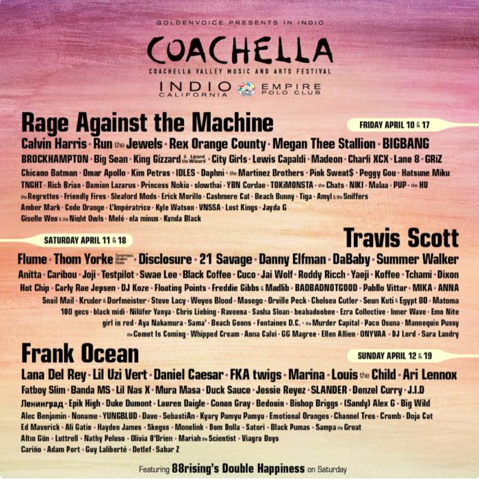 Rage Against The Machine to headline Coachella Festival