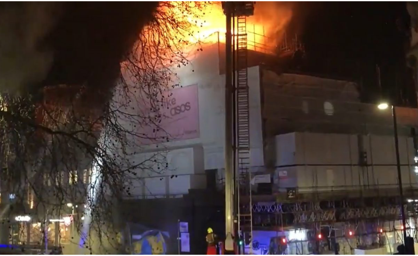 60 firefighters tackle blaze at historic London nightclub Koko