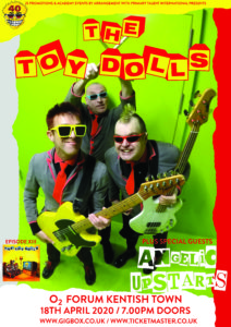 Win a pair of tickets to The Toy Dolls 40th Anniversary Tour:
