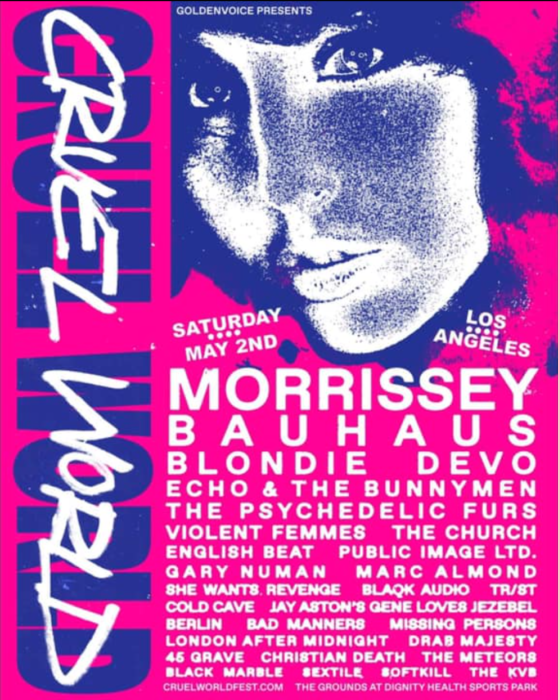 Cruel World festival in LA announce Bauhaus and many LTW favourites on bill