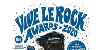 Vive Le Rock Awards flyer 2