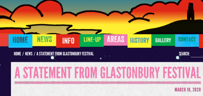 Glastonbury Festival 2020 cancels – another victim of the virus