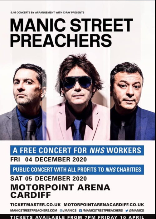 Manic Street Preachers announce 2 very special shows in Cardiff in December for the NHS