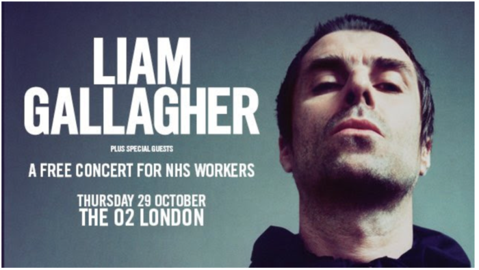 Liam Gallagher announces special O2 Arena gig for the NHS in October