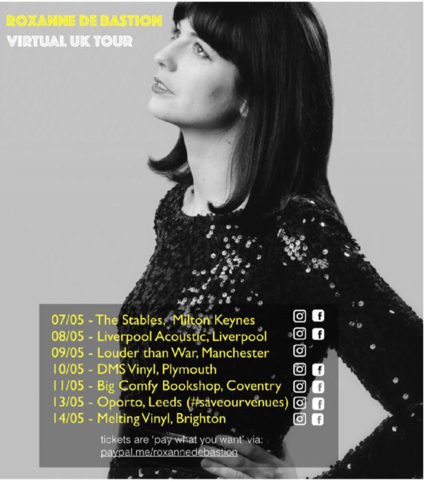 Roxanne de Bastion announces a virtual UK tour  to celebrate her new Bernard Butler produced single release Erase