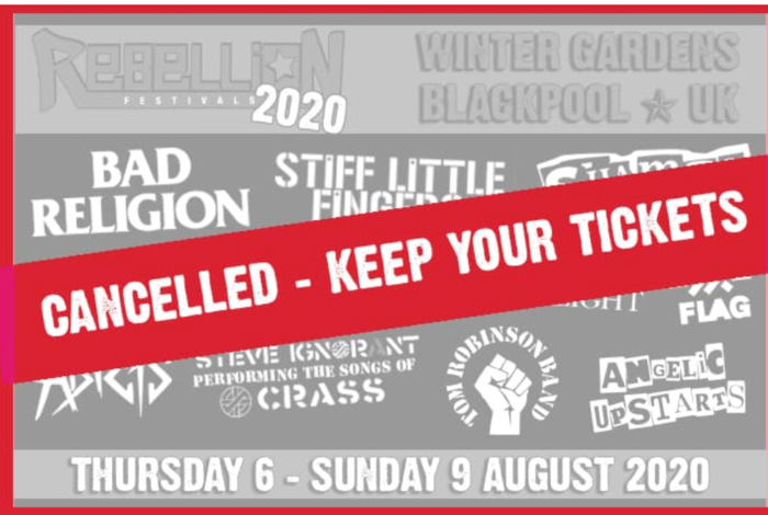 Rebellion festival cancel due to virus
