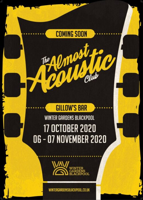 Blackpool's Almost Acoustic Club announce first live gigs inc Dave Sharp