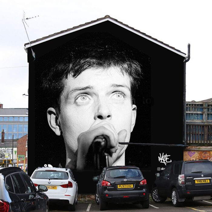 Stunning New mural of Ian Curtis appears in Manchester
