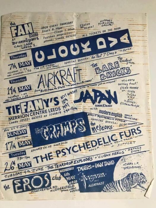 From the F club to Go4 to proto Goth : Post punk Leeds : and in depth look at how punk impacted on the city