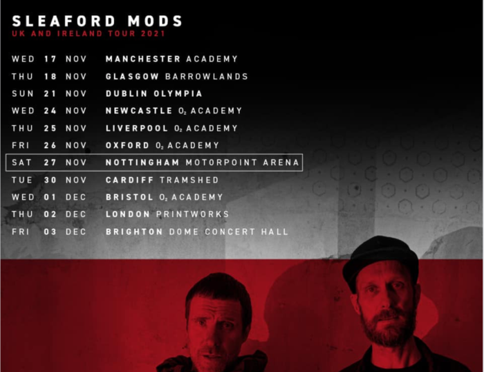 Sleaford Mods announce big autumn 2021 tour