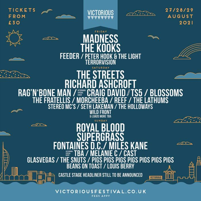 Victorious Festival 2021 LineUp Poster