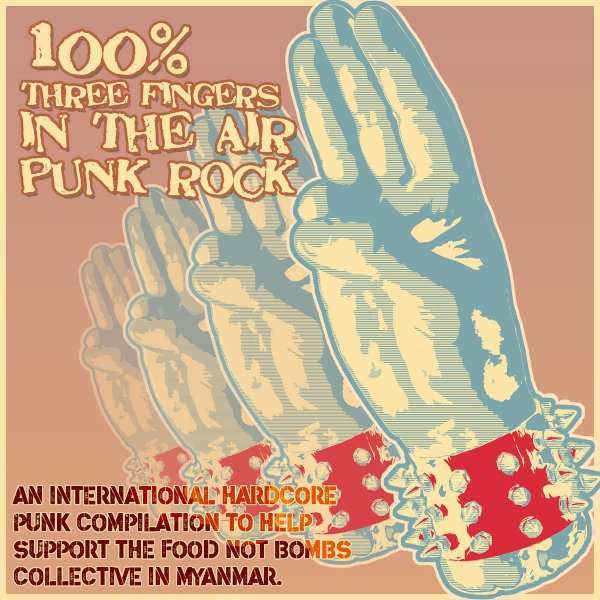 International Solidarity Compilation: 100% Three Fingers in the Air Punk Rock – album review