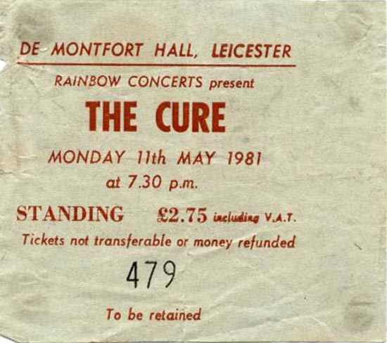 The Cure : retro live review : Leicester 1981 – 40 years since we saw the band move into the future