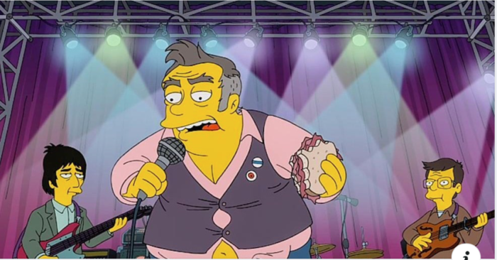 Morrissey or his people not happy about The Simpsons portrayal of him