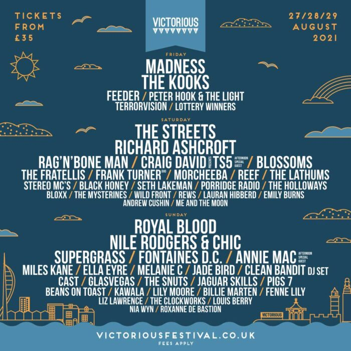 Victorious Festival 2021 Second Tranche Acts Poster
