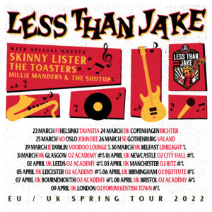 Mille Manders and The Shutup win support slot on Less Than Jake UK tour