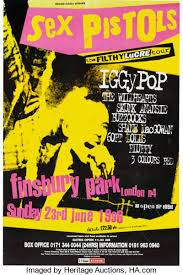Sex Pistols : Finsbury Park 1996 : John Robb celebrates a classic gig