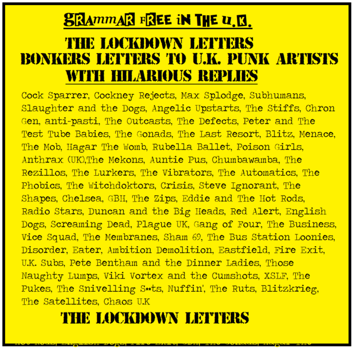 Grammar Free in the UK – The Lockdown Letters by D and D Philpott – book review