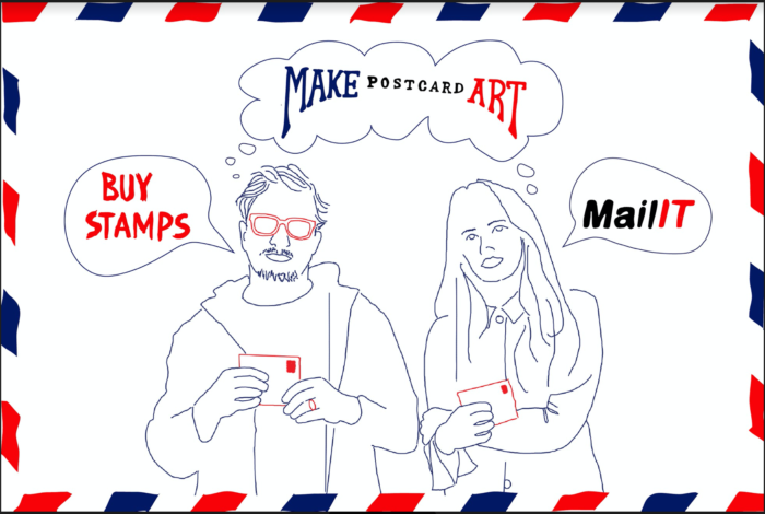 Mark Mothersbaugh (Devo) and Beatie Wolfe's collective art campaign, Postcards for Democracy, exhibition details