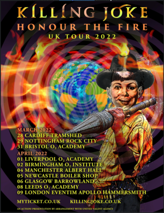 Killing Joke announce first UK tour for three years