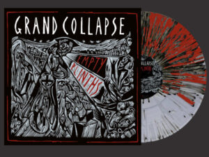 Grand Collapse - Empty Plinths - clear red black