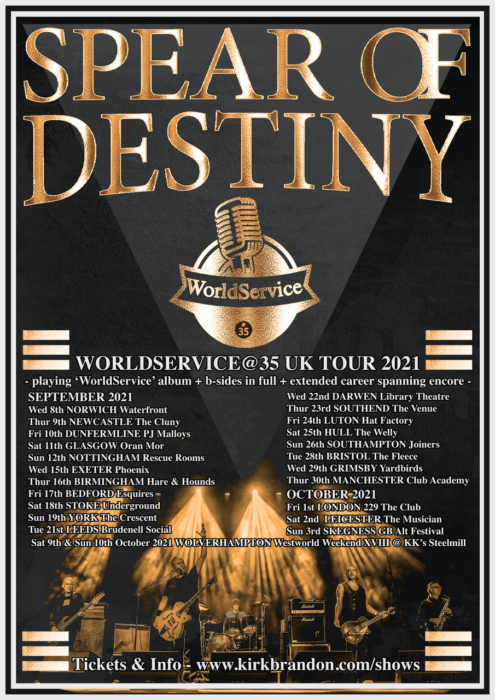 Spear Of Destiny announce rescheduled World Service 35th Anniversary Tour